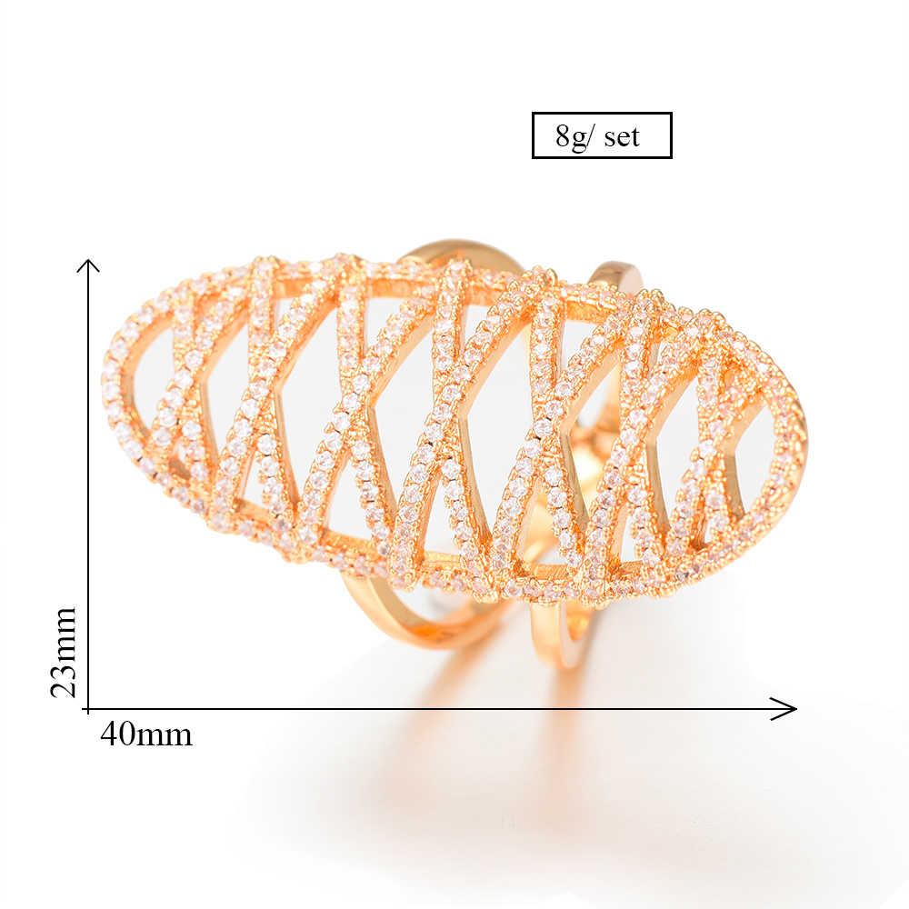 GODKI Cubic Zirconia งานแต่งงานแหวนสำหรับเจ้าสาวงานแต่งงานเครื่องประดับ CZ Femmale อุปกรณ์เสริมทั้งแหวน