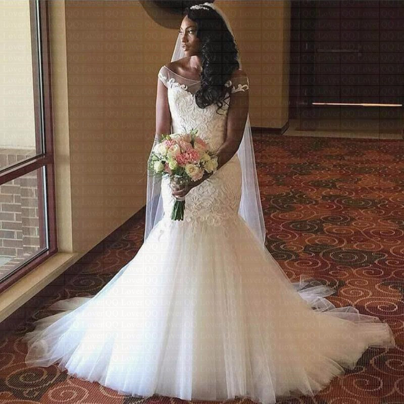 Wedding Dresses: 2018 New African Mermaid Lace Wedding Dress Off The
