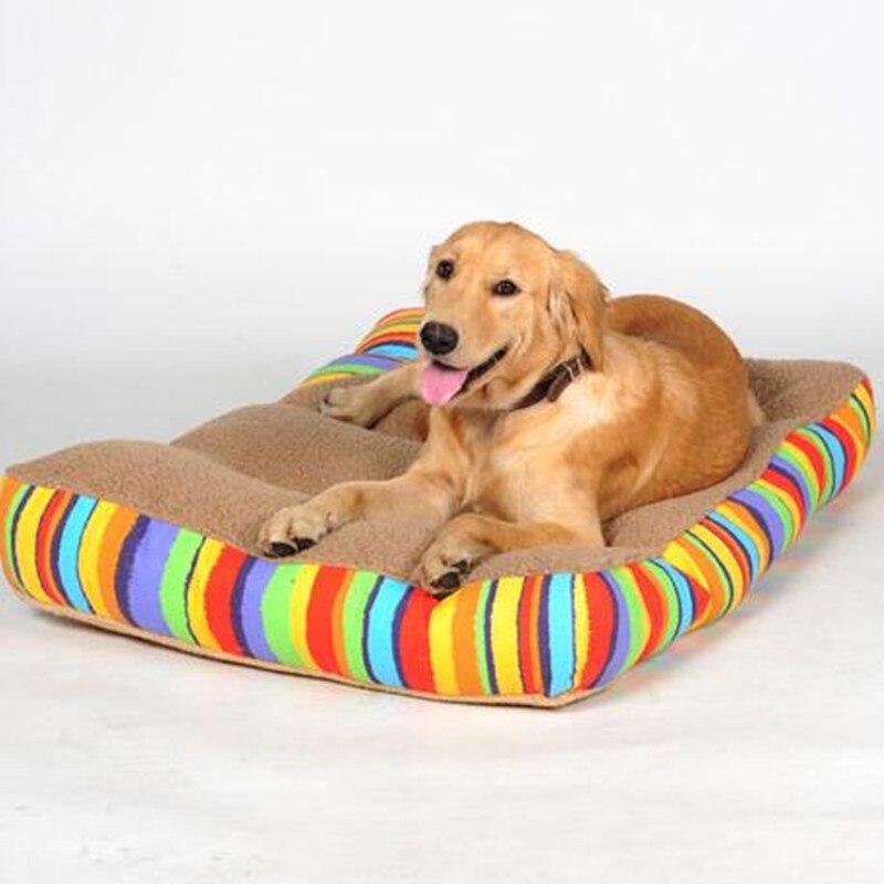 Venta caliente Color de Gran Cama Del Perro de la Perrera Mat Soft Fleece Pet Al