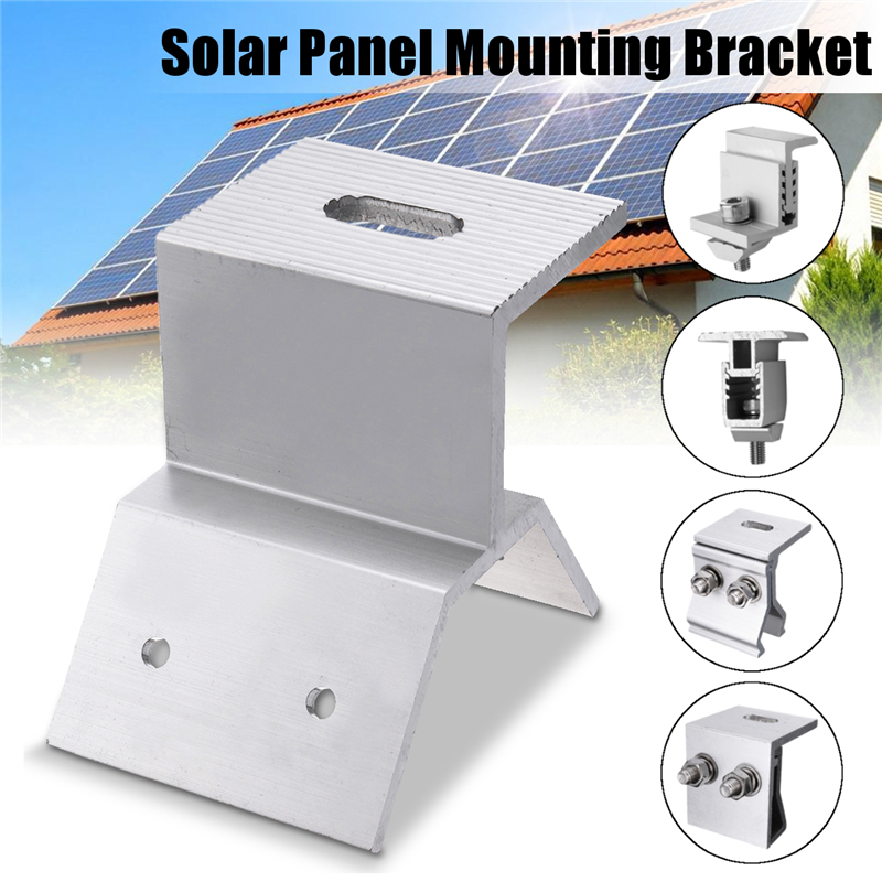 5 Types Solar Panel Mounting Bracket Photovoltaic Support Single Stainless Steel Solar System Accessories For RV House  Boat