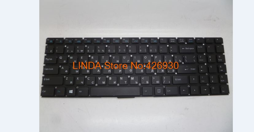 Laptop Keyboard For DOK-6385C-RU D0K-V6385C-US RU Russia black without frame new new and original black ru laptop keyboard with frame for metabox p170sm ru layout
