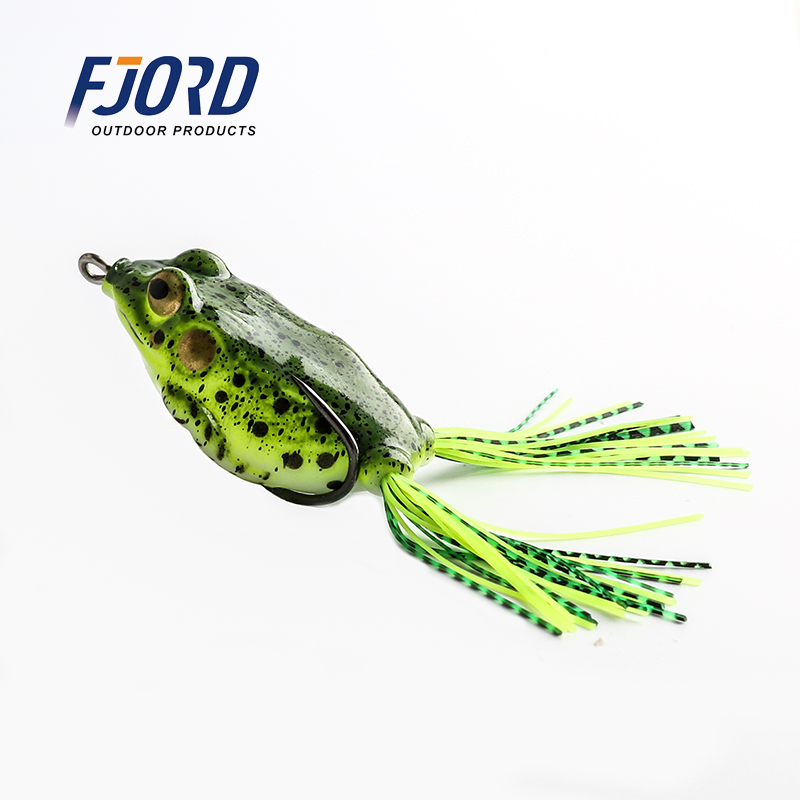 FJORD 1pcs 5color 6cm 15g Soft Bait Kopper Live Target Top Water Minnow Crank Artificial Lure Simulation Frog Fishing Lure