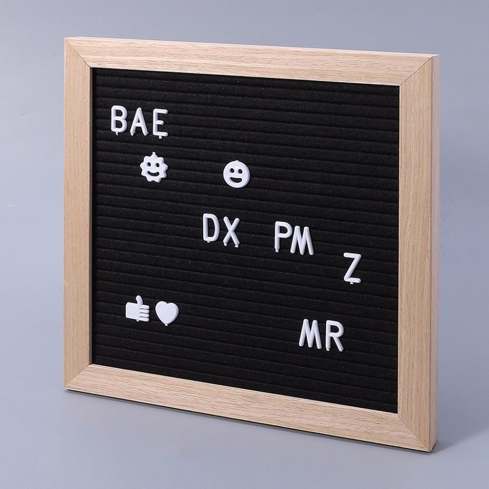 Felt Message Board Decor Board Frame White Letters Symbols Number Characters Bag