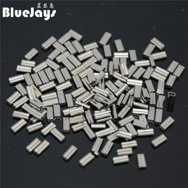 100pieces Fish crimps Copper alloy pipe fishing line tube fitted tube wire clip tube fishing tackle fishing sleeve free shipping