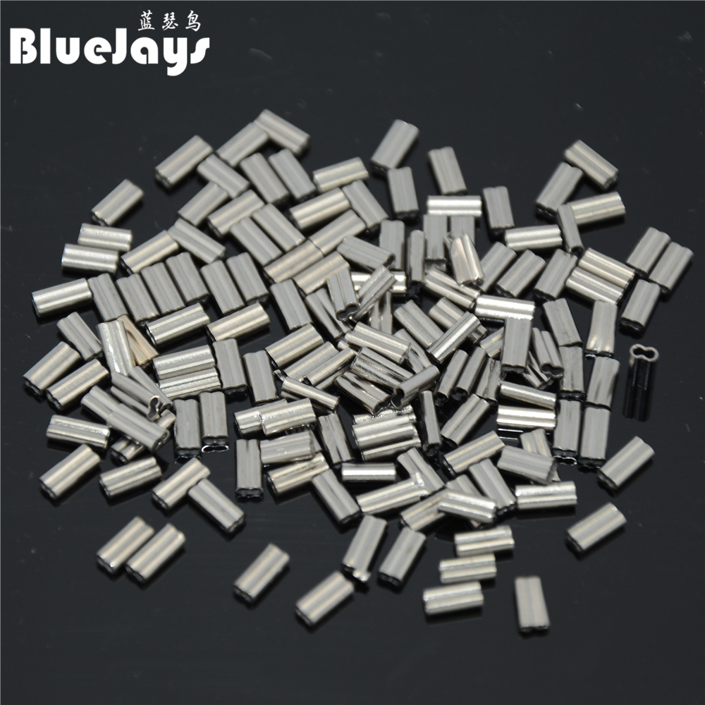 100pieces Fish crimps aluminum pipe font b fishing b font font b line b font tube