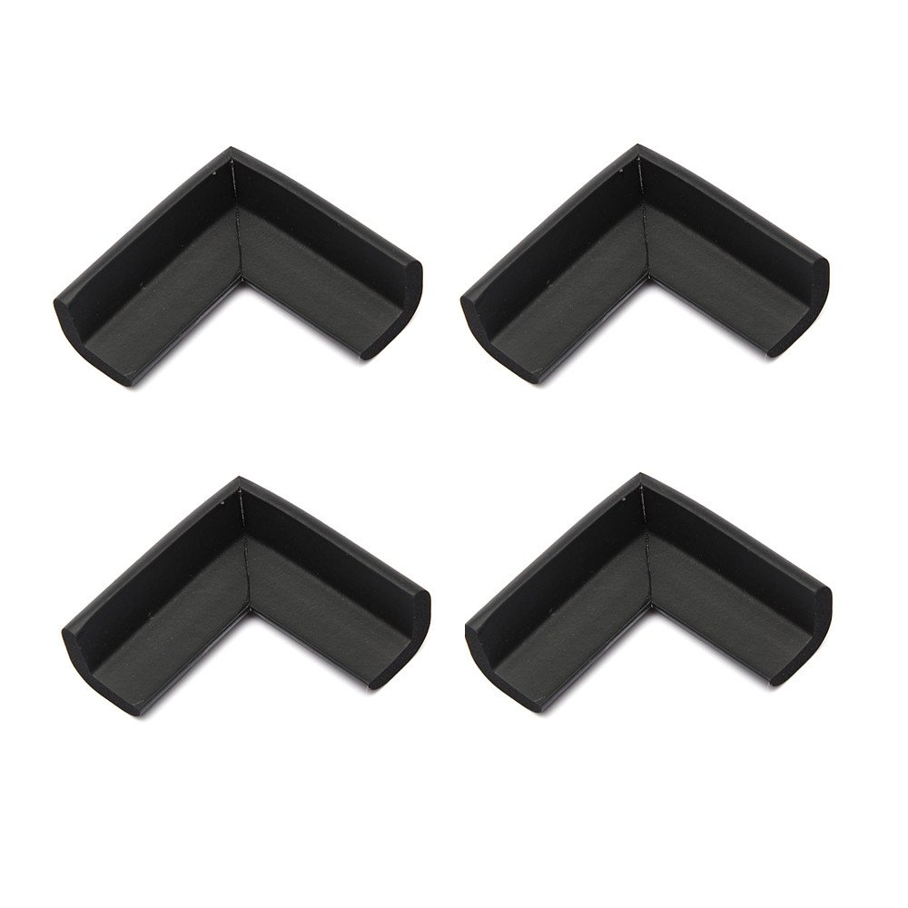 4pcs Baby Safety Table Edge Cover Corner Protector Cushion Black