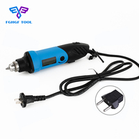 FGHGF 220V 480W Mini Electric Die Grinder Accessories Regulating Speed Drill Grinding Machine Milling Polishing Rotary