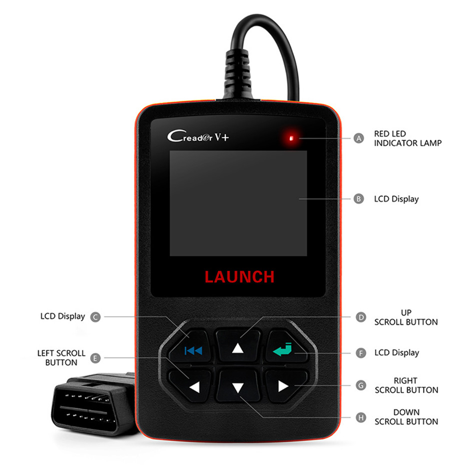 HTB15lGQgLNNTKJjSspkq6yeWFXaC Launch X431 Creader V+ OBD OBD2 Automotive Scanner Fault Code Reader With Multi-language ODB2 Car Diagnostic Tool Auto Scanner