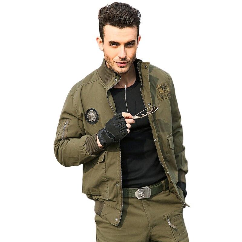 US $53.26 20% OFF Männer Taktische Jacken Army Military Stil Kleidung Für Männer Pilot Mantel US Army 101 Air Force Bomber Jacke Mantel in Männer