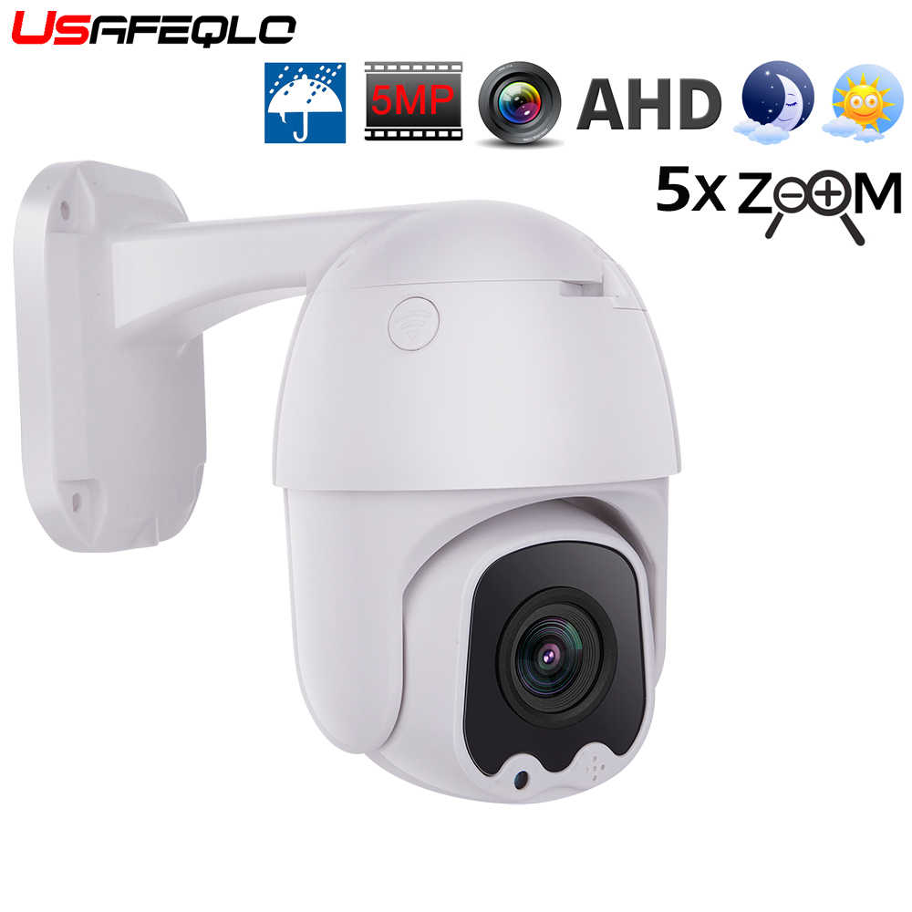 Usafeqlo AHD5MP 5X Mini PTZ Dome Camera 5MP 5X AHD Kamera 30M IR Kamera CCTV Outdoor Dukungan RS485 Coaxial fungsi Kontrol