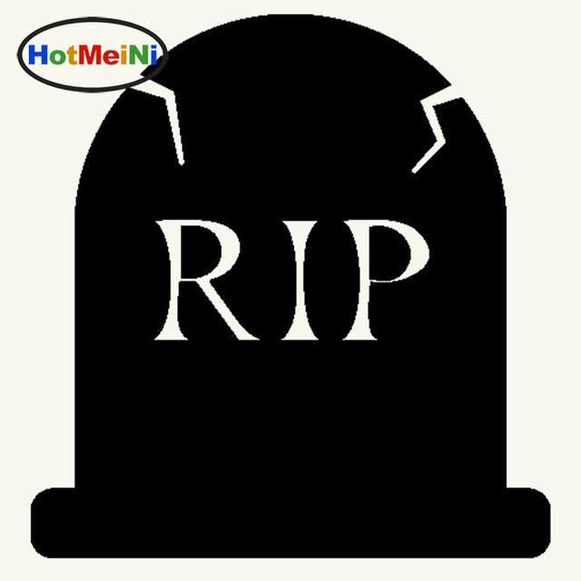 HotMeiNi Factory Outlets Cute 9 Colors Lovely Cartoon Halloween Headstone  Graphic Art Car Sticker Window Door