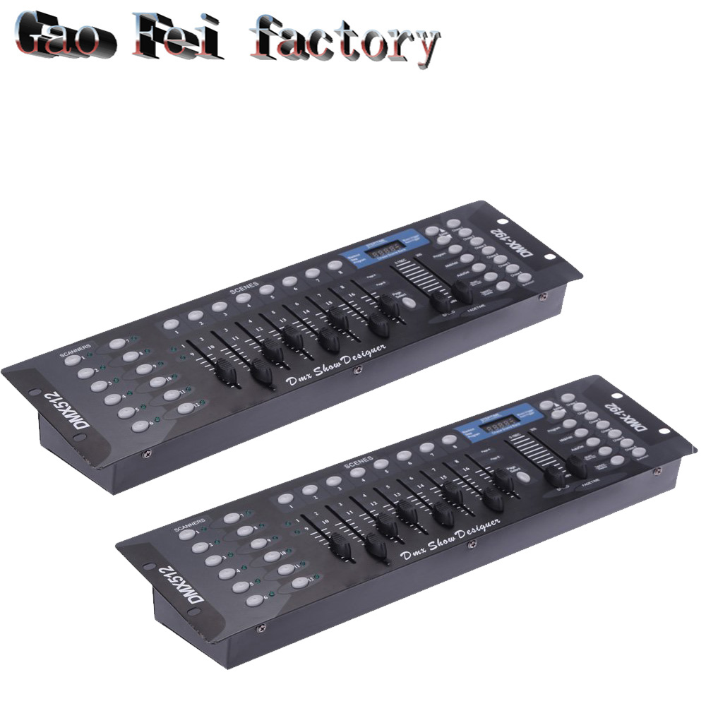 2pcs/lot 192 controller for stage lighting Led par beam dmx console DJ equipment цена
