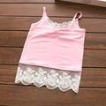 New summer baby girls lace sleeveless T-shirt vest children fashion cute children vest tops tees