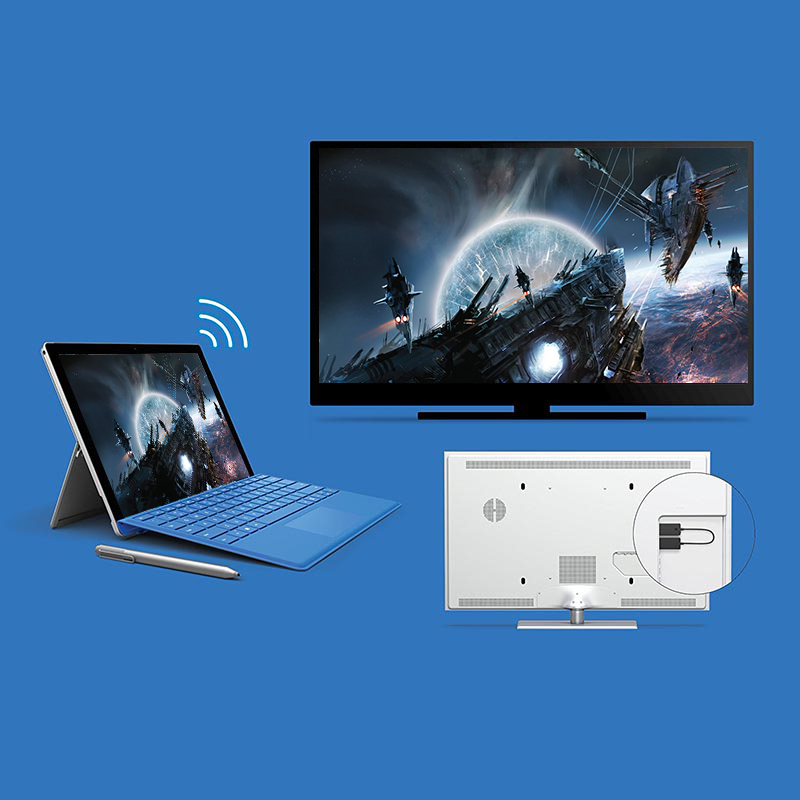 For Microsoft Wireless Display Adapter Wireless AudioVideo Extender Cable Share LaptopTabletSmartphone to HDMI HD TV (6)