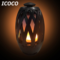 ICOCO Portable Mini 96 LED Flame Wireless Bluetooth Speaker Flame Atmosphere Night Light Stereo Bass Speaker