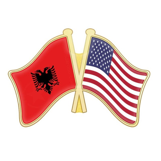 Albania And Tuvalu Uganda Ukraine United Arab Emirates Kingdom Nations States Crossed Flags Lapel Pins