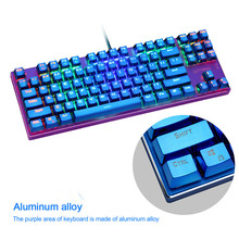 KuWFi  Wired RGB real Mechanical Keyboard For e-sports Games, Multimedia Aluminum Keyboard