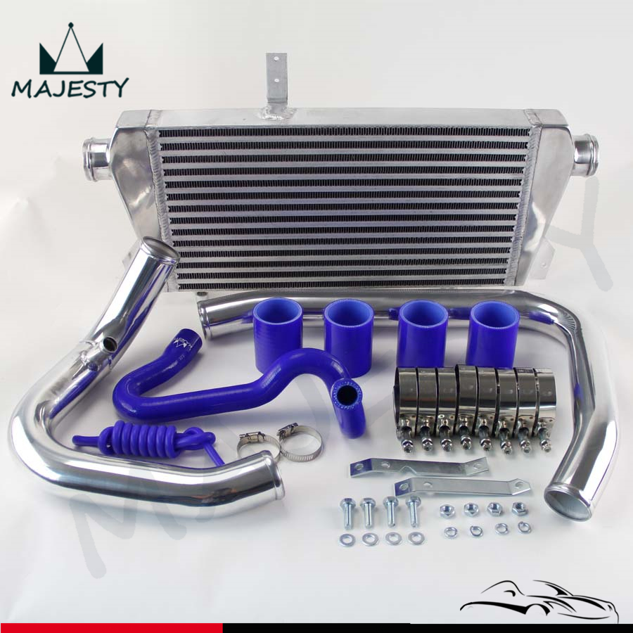 Front mount intercooler kit aluminum piping for 96 01 vw for Audi a4 1 8 t motor for sale