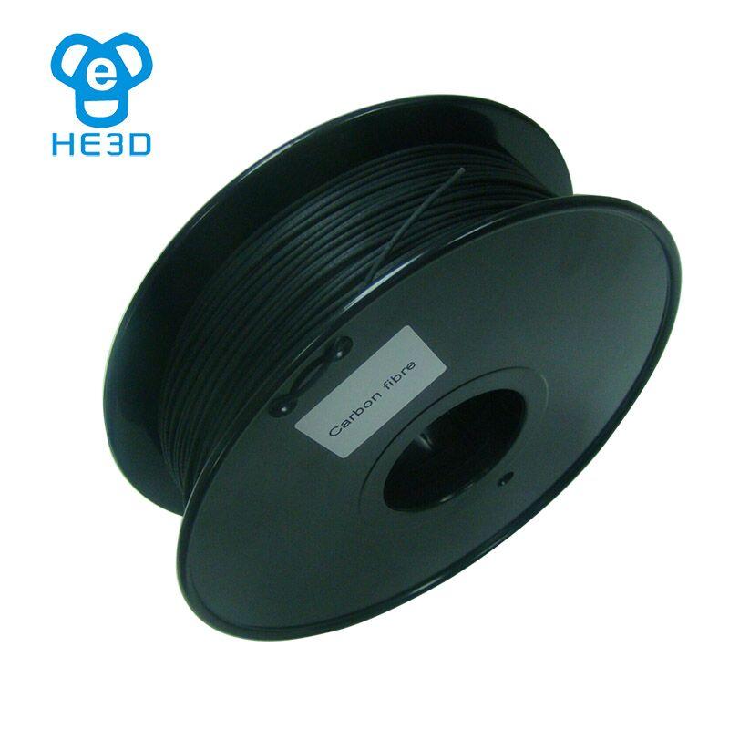 HE3D le plus récent filament de fibre de carbone 1.75mm pour imprimante reprap he3d