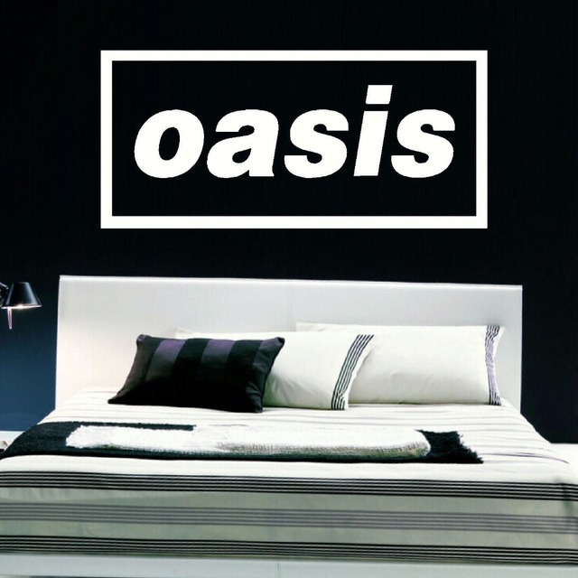 Large music band logo oasis liam bedroom giant wall art sticker self adhesive pvc vinyl transfer