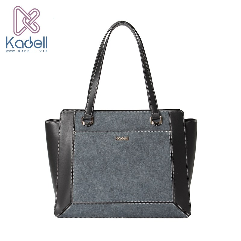 Kadell Brand 2018 New Woman Patchwork Bags High Quality Casual Tote Bag Female Handbag Vintage Leather Shoulder Bags Bat Package new high quality vintage casual 100