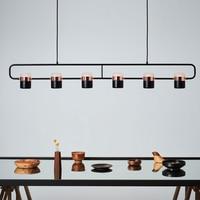 Modern Lamp singer black white gold Led Indoor dinner bed room bar coffer shop hanging pendant ceiling warm spot Lighting