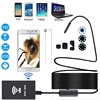 F140 8mm 1200P HD WIFI Endoscope Camera Soft Hard Cable IP67 Waterproof With Adjustable Light Button