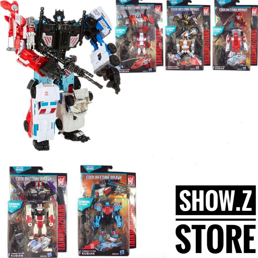 [Show.Z Store] HaiZhiXing HZX Combiner Wars Defensor Set of 5 Transformation Action Figure 2014 new high quality building blocks minifigures 4 in 1 combiner various models transformation robots cars action figure
