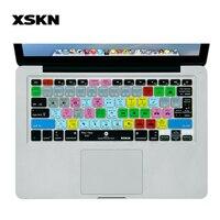 XSKN Bàn Phím Cover đối với Adobe Ra Mắt, phím tắt PR keyboard Skin Hot Keys Keyboard Skin đối với Apple Macbook Air Pro Retina 13 15