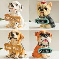 1 Pcs Mini Artificial Dog Miniature Toys Animal Resin Figurines Bonsai Micro Landscape Home Garden Decoration