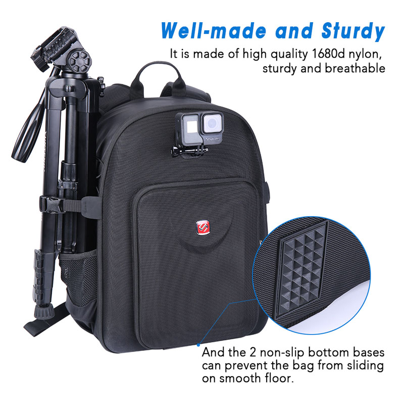 Smatree CP2500 Newest Backpack design for Nikon D3400 D7200 D3300 Canon EOS 80D Digital SLR Camera Camera Body Nikon D750 in Camera Video Bags from Consumer Electronics