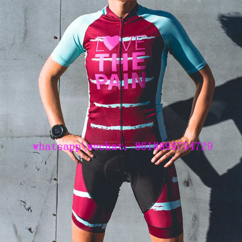 2019 Love The Pain zomer maillot pro team MTB cycling jerseys sets ourdoor running clothes racing bicycle clothing breathable in Cycling Sets from Sports Entertainment