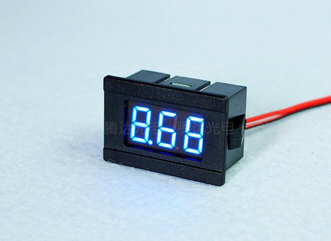 <font><b>10pcs</b></font> 0.36'' Mini Digital <font><b>Voltmeter</b></font> DC4.5-30V 2 wires Vehicles Motor Voltage Panel Meter 4.5V TO 30V led Display Color:Blue hot image