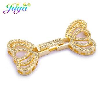 c34aa3c5dbfc Lujo abalorios Material de joyería oro plata Clousure perlas cierres  accesorios para piedra Natural perlas joyería que hace