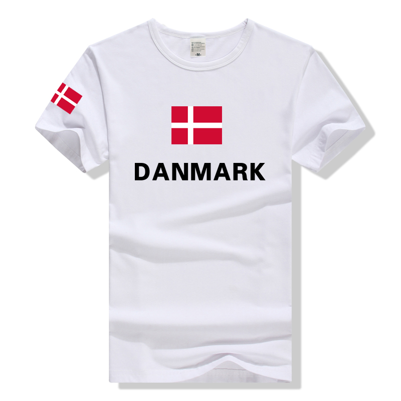 TEEWINING T Shirt Flag Of Danmark Men Women Tshirt