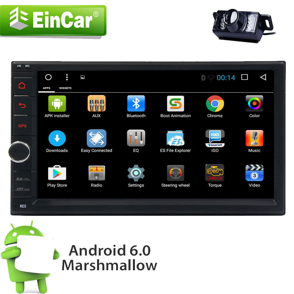 android 6 0 double 2din hd car dvd stereo radio gps wifi. Black Bedroom Furniture Sets. Home Design Ideas
