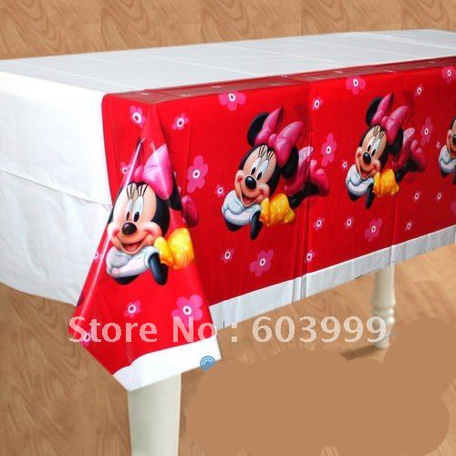 wholesale 20 Minnie Mouse Party supplies TableCover Birthday Tablecloth tablecovers 108cmx1 80cm fast delivery free & wholesale 20 Minnie Mouse Party supplies TableCover Birthday ...