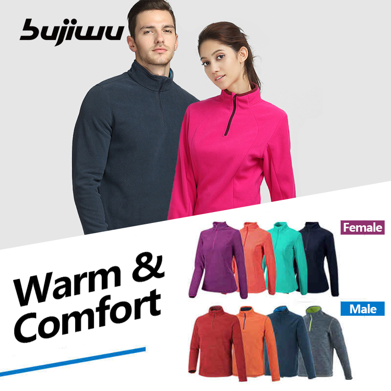 Autumn Winter Thermal Fleece Jacket Outdoor Windproof Camping Hiking Hunting Overcoat for Men and Women Plus Size S-XXL