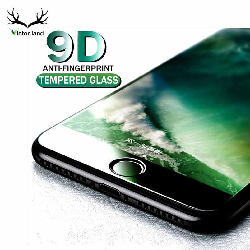 9D For iPhone 11 11r Pro Xs Max XR 7 8 X 10 6 6s plus Curved Edge Tempered Glass 9H Screen Protector Full Cover Film Case