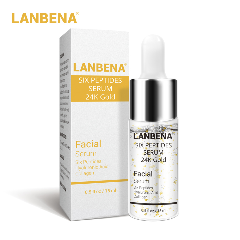 Lanbena 24k Gold Six Peptides Serum Face Cream Anti-aging Wrinkle Lift Firming Whitening Moisturizing Acne Treatment Skin Care #2