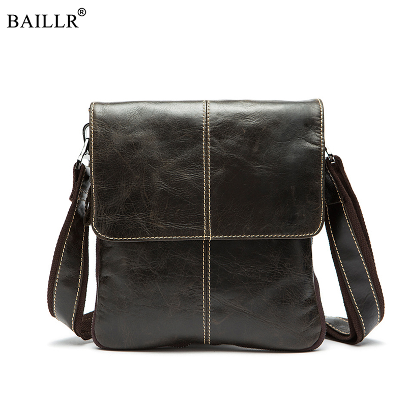 2018 New Fashion Vintage Mens Business Bag Brand Genuine Leather small Crossbody Bag Male Shoulder Bags Mens Casual Travel Bag