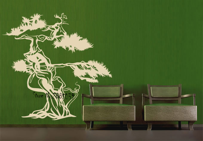 Beautiful asian style tree wall stickers home decor living - Beautiful wall stickers for living room ...