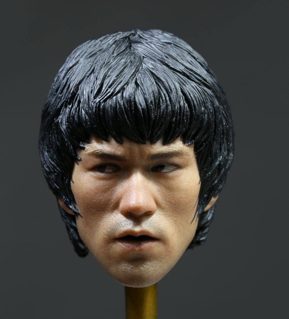 ФОТО Brand New 1/6 Scale The Game of Death Bruce Lee Head Sculpt For 12'' Action Figure Model Toy Accessories