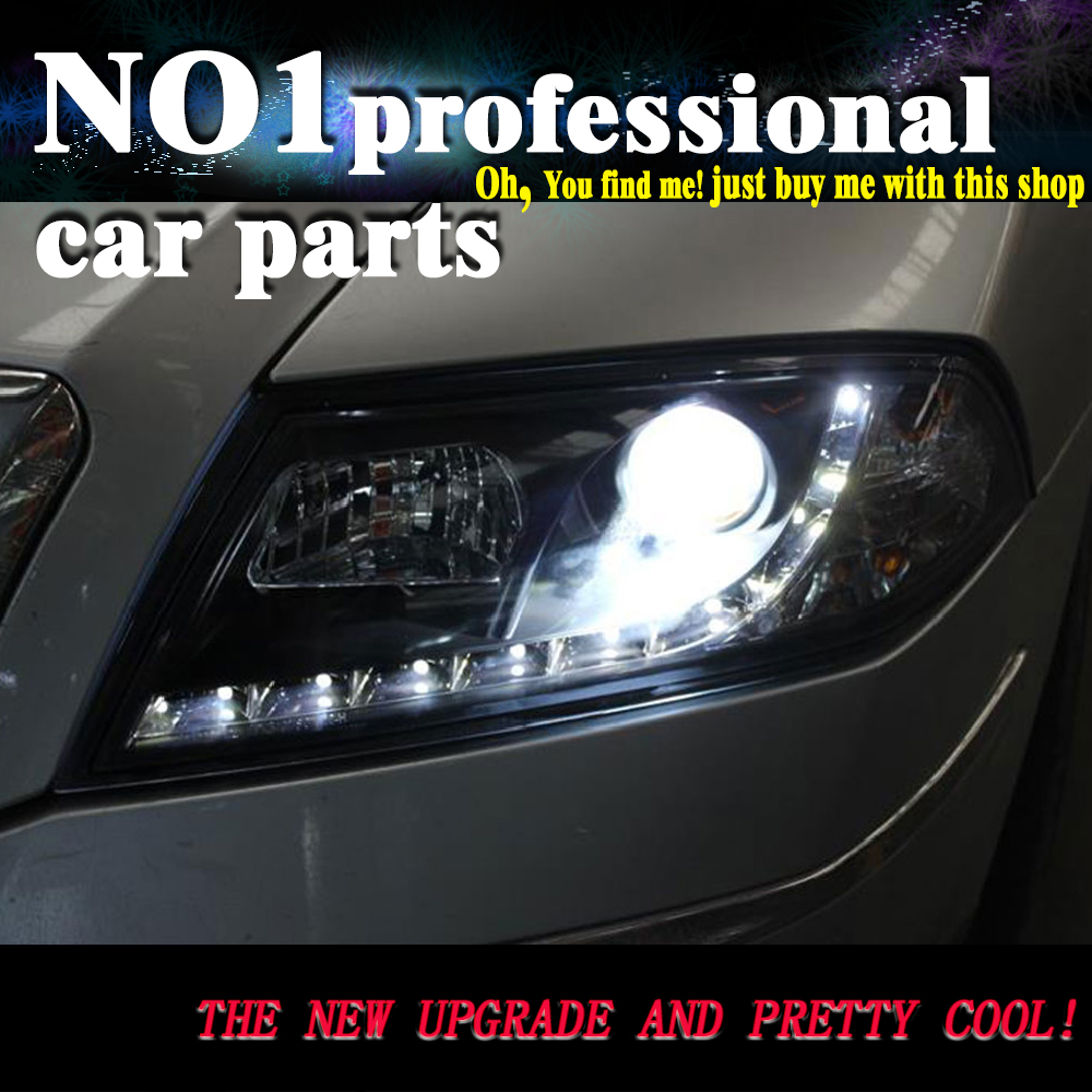 OUMIAO Car Styling for Skoda Octavia Headlights 2005 2009 Octavia LED Headlight DRL Lens Double Beam H7 HID Xenon bi xenon lens