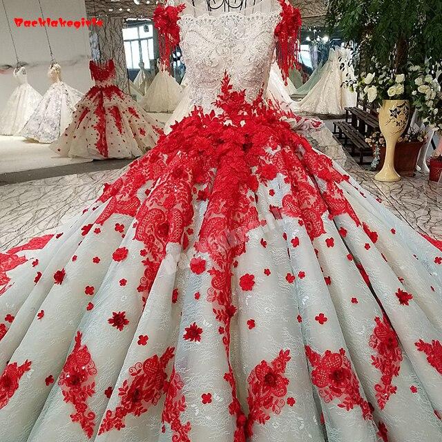 19920 Dekorationen Beleuchtung Rot Und Weiß Abendkleider Perlen Einfügen 3d Blumen Kristall Perlen Abendkleid