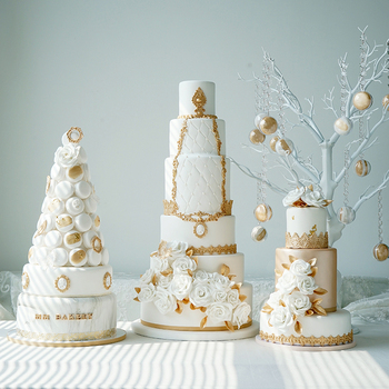 Sweetogo 6 레이어 인공 퐁당 케이크 가짜 케이크 금형 시뮬레이션 케이크 장식 쇼케이스 사진 소품