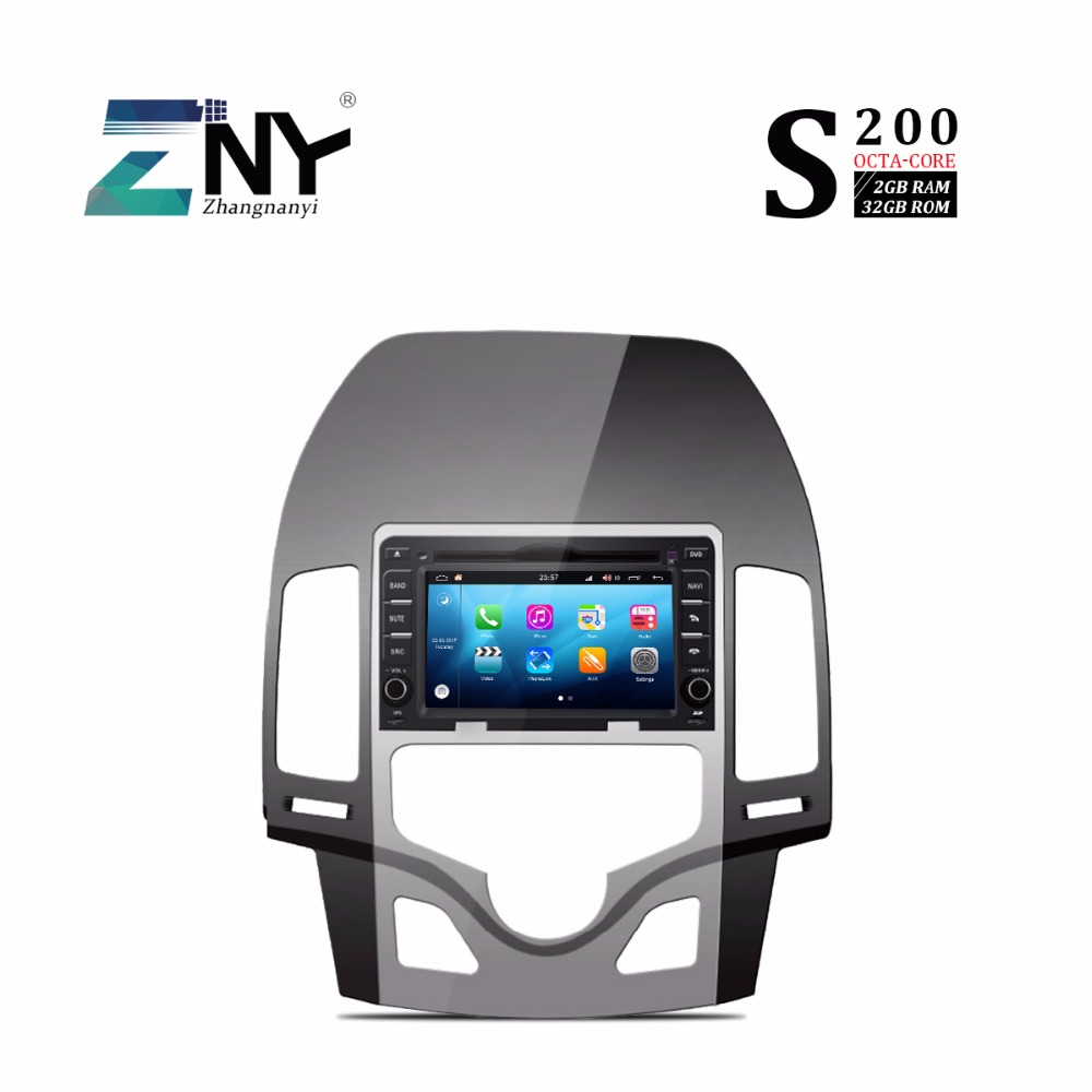 S200 Android 8.0 DVD de voiture pour Hyundai I30 2007 2008 2009 2010 2011 Auto stéréo Radio GPS Navigation système multimédia CarPlay