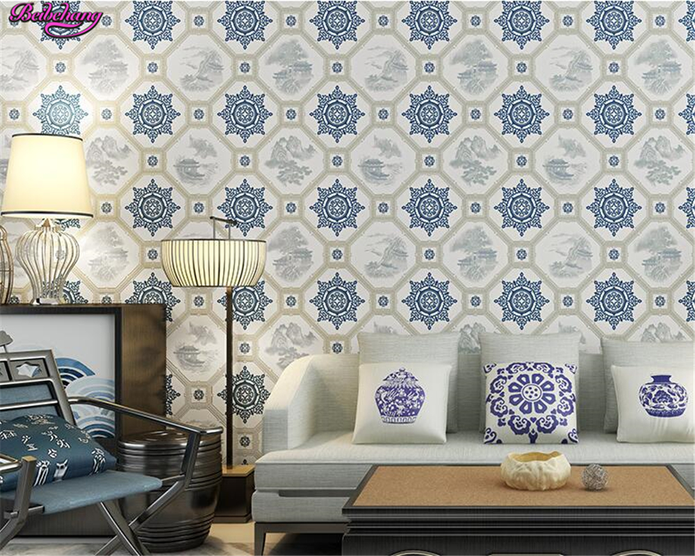 beibehang pvc New Chinese classical retro 3d Wallpaper living room sofa background wallpaper papel de parede papier peint tapety