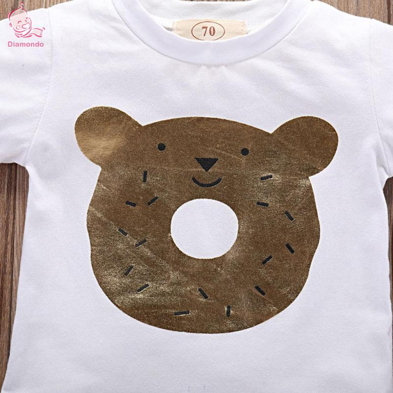 Summer Baby Clothes Set Newborn Baby Boys Cartoon Print T-Shirt + Pants 2018 New Cute Cotton Pure Color Suits for Infant Bebe