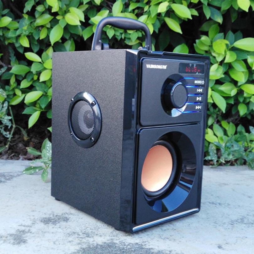 VAENSONG A10 ағаш HiFi Bluetooth спикер 2.1 Стерео - Портативті аудио және бейне - фото 3